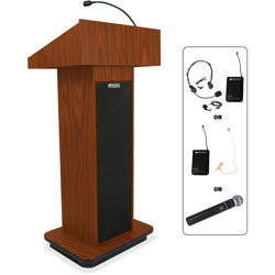 Amplivox Executive Sound, Column Lectern, Wireless, 43 in x 21 in x 15 in, MOK