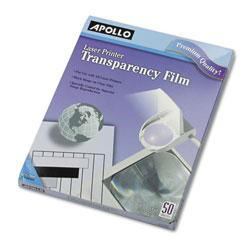 Apollo B/W Laser Transparency Film, Letter, Clear, 50/Box