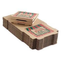 ARVCO Containers Corrugated Pizza Boxes, 12 x 12 x 1 3/4, Kraft, 50/Carton