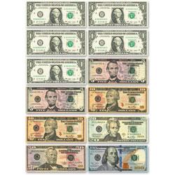 Ashley US Dollars Diecut Magnets, Multi