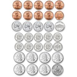 Ashley US Coins Diecut Magnets, Multi