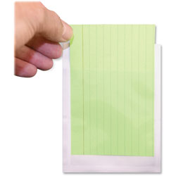 Ashley Library Pockets, 3-1/2 in x 5-1/4 in, 25/PK, Clear