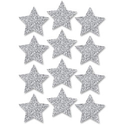 Ashley Decorative Magnetic Stars, 3 in, 12pc, Silver