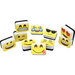 Ashley Mini Whiteboard Erasers, Emojis Design , 2 in x 1-1/2 in x 3/4 in,