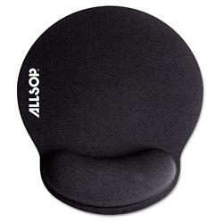 Allsop MousePad Pro Memory Foam Mouse Pad with Wrist Rest, 9 x 10 x 1, Black