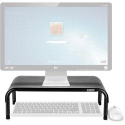 Allsop Ergo 3 Metal Monitor Stand, 10 in x 18 in x 6 in, Pearl/Black