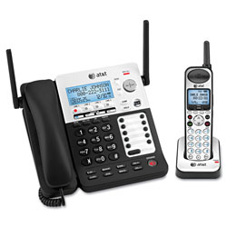 Vtech SB67138 DECT 6.0 Phone/Answering System, 4 Line, 1 Corded/1 Cordless Handset