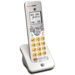 AT&T Accessory Handset, 3-2/5 inWx3 inLx7-1/10 inH, White