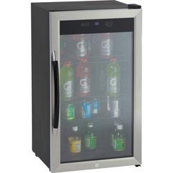 Avanti Products Avanti, Beverage Cooler, 3.1CF, Glass Door, BK/SR
