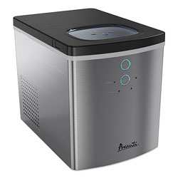 Avanti Products Portable/Countertop Ice Maker, 25 lb, Stainless Steel