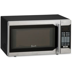 Avanti Products .7 Cu. Ft. Capacity Microwave Oven, 700 Watts, Stainless Steel and Black
