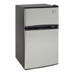 Avanti Products Counter-Height 3.1 Cu. Ft Two-Door Refrigerator/Freezer, Black/Stainless Steel