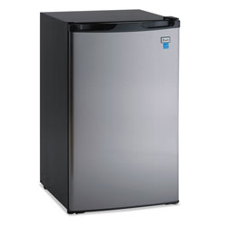 Avanti Products 4.4 CF Refrigerator, 19 1/2 inW x 22 inD x 33 inH, Black/Stainless Steel