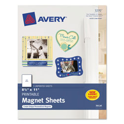 Avery Printable Magnet Sheets, 8.5 x 11, White, 5/Pack