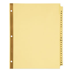 Avery Preprinted Laminated Tab Dividers w/Gold Reinforced Binding Edge, 25-Tab, Letter