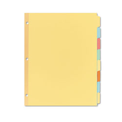 Avery Write & Erase Plain-Tab Paper Dividers, 8-Tab, Letter, Multicolor, 24 Sets