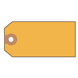 Avery Unstrung Shipping Tags, Paper, 4 3/4 x 2 3/8, Yellow, 1,000/Box