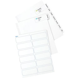 Avery Easy Peel Large Tab Dividers, 8-Tab, 6/PK, White