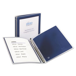 Avery Flexi-View Binder with Round Rings, 3 Rings, 0.5 in Capacity, 11 x 8.5, Navy Blue