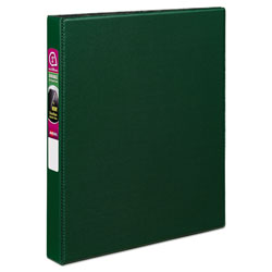 Avery Durable Non-View Binder with DuraHinge and Slant Rings, 3 Rings, 1 in Capacity, 11 x 8.5, Green
