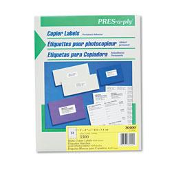 Avery White Copier Labels, Copiers, 1 x 2.81, White, 33/Sheet, 100 Sheets/Box