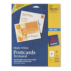 Avery Personal Creations™ Ink Jet Textured Heavyweight Postcards, 4 1/4 inx5 1/2 in, 120 per Pack