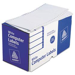 Avery Dot Matrix Printer Mailing Labels, Pin-Fed Printers, 2.94 x 5, White, 3,000/Box