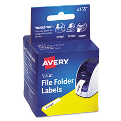 Avery Multipurpose Thermal Labels, 0.56 x 3.44, White, 130/Roll, 2 Rolls/Pack