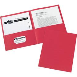 Avery 2-Pocket Folder, Letter-size, 20Sh/Pocket, 125/CT, Red