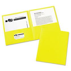 Avery Two-Pocket Folder, 40-Sheet Capacity, Yellow, 25/Box