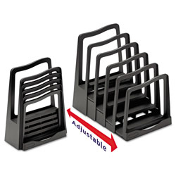 Avery Adjustable File Rack, 5 Sections, Letter Size Files, 8 in x 11.5 in x 10.5 in, Black