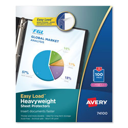 Avery Top-Load Poly Sheet Protectors, Heavy Gauge, Letter, Diamond Clear, 100/Box
