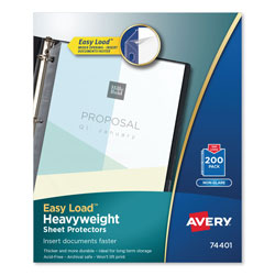 Avery Top-Load Poly Sheet Protectors, Heavyweight, Letter, Nonglare, 200/Box