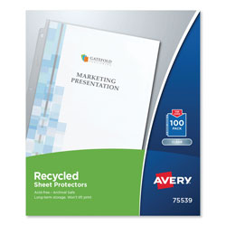 Avery Top-Load Recycled Polypropylene Sheet Protector, Clear, 100/Box