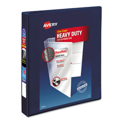 Avery Heavy-Duty View Binder with DuraHinge and One Touch EZD Rings, 3 Rings, 1 in Capacity, 11 x 8.5, Navy Blue