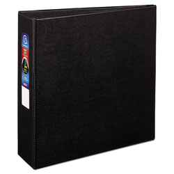 Avery Heavy-Duty Non-View Binder with DuraHinge and Locking One Touch EZD Rings, 3 Rings, 3 in Capacity, 11 x 8.5, Black