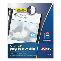 Avery Top-Load Poly Sheet Protector, Super Heavy Gauge, Letter, Diamond Clear, 50/Box
