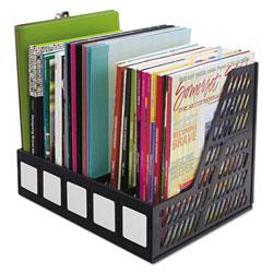 Read Right/Advantus Literature File, Five Slots, Black