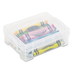 Advantus Super Stacker Crayon Box, Clear, 4 3/4 x 3 1/2 x 1 3/5