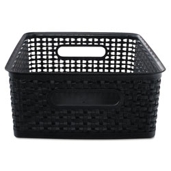 Advantus Weave Bins, 14.25 x 10.25 x 4.75, Black, 2/Pack