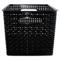 Advantus Weave Bins, 13.88 x 10.5 x 8.75, Black, 2/Pack