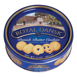 Advantus Cookies, Danish Butter, 12 oz Tin