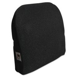 Advantus Memory Foam Massage Lumbar Cushion, 12.75w x 3.75d x 12h, Black
