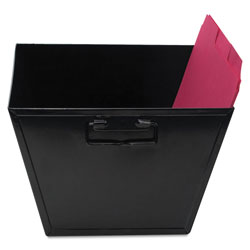 Advantus Steel File and Storage Bin, Letter Files, 12.13 in x 11.25 in x 7.38 in, Black