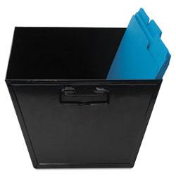 Advantus Steel File and Storage Bin, Legal Files, 15.25 in x 11.25 in x 7.25 in, Black