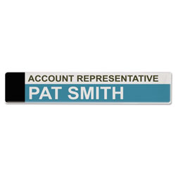 Advantus Panel Wall Sign Name Holder, Acrylic, 9 x 2, 6/Pack, Clear