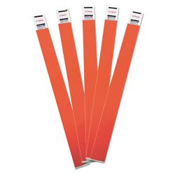 Advantus Crowd Management Wristbands, Sequentially Numbered, 10 x 3/4, Red, 100/Pack