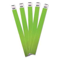 Advantus Crowd Management Wristbands, Sequentially Numbered, 10 x 3/4, Green, 100/Pack