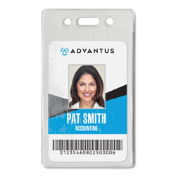 Advantus Proximity ID Badge Holder, Vertical, 2.68 x 4.38, Clear, 50/Pack