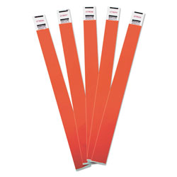 Advantus Crowd Management Wristbands, Sequentially Numbered, 9 3/4 x 3/4, Red, 500/Pack